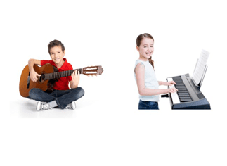 Boy guitar and Girl piano