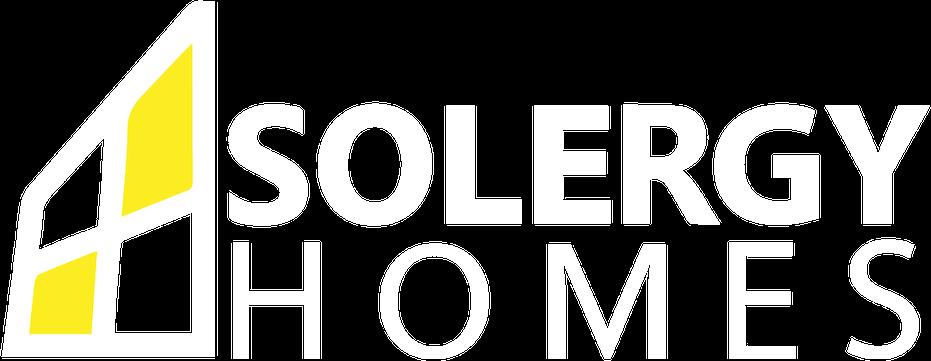 solergy homes custom solar homes logo in white